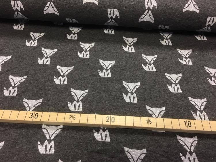 Sweat Fox Glitter grau brushed